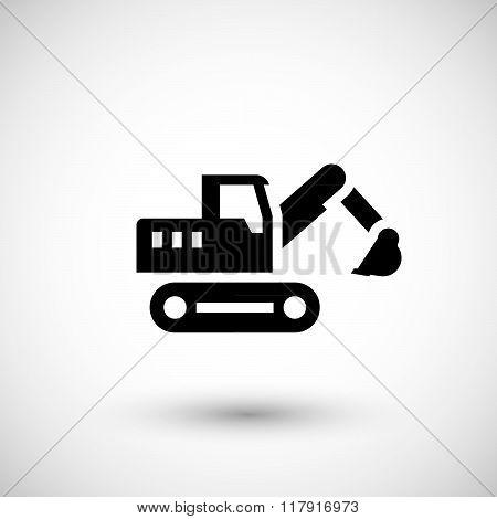 Crawler excavator icon