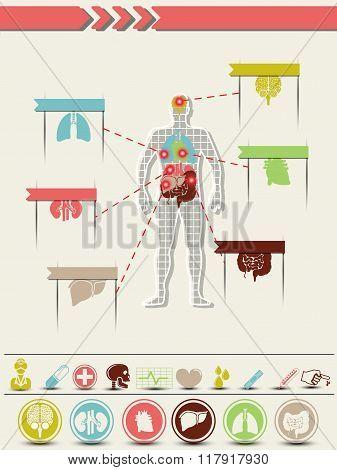 Infographic Medicine Retro