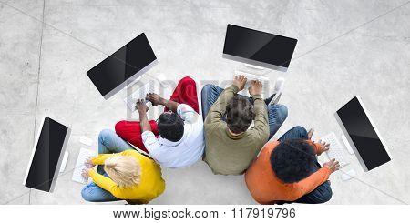 Computer Desktop Technology PC Communication Concept