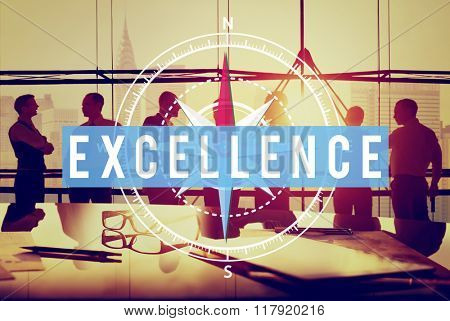 Excellence Excellent Good Intelligence Concept