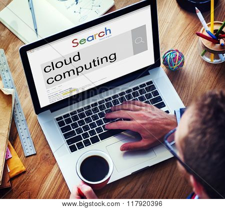 Cloud Computing Online Internet Data Concept