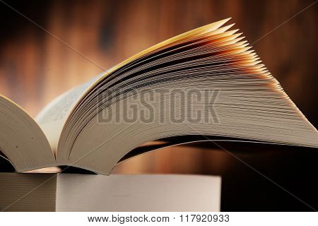 Composition With Hardcover Books