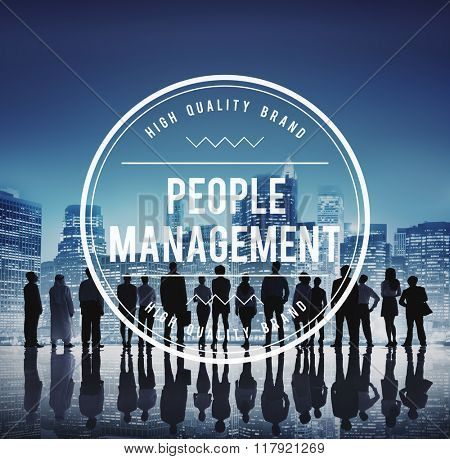 People Management Manpower Employment Strategy Concept
