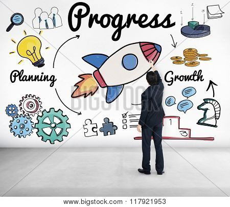 Progress Innovation Inprovement Advance Growth Concept