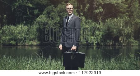 Business Travel Calm Occupation Briefcase Vision Concept