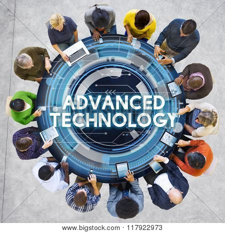 Advanced Technology Innovation Invention Connection Concept