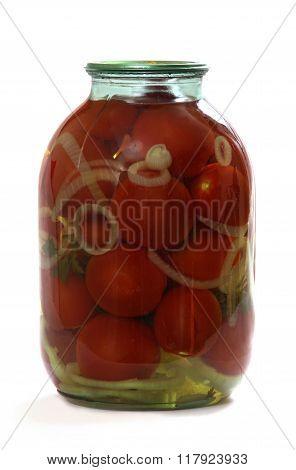Pickled Tomato In Glass