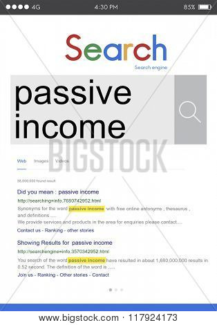 Passive Income Budget Earning Economy Finance Concept