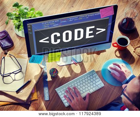 Code Programming Technology Language Developing Concept