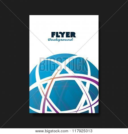 Flyer or Cover Design Template with Globe Design Background - Blue