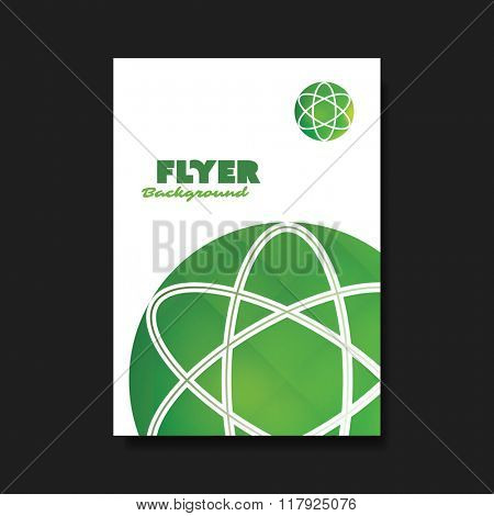 Flyer or Cover Design Template with Globe Design Background - Green