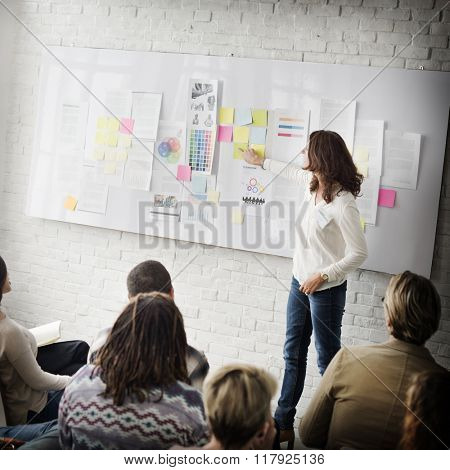 Business Presentation in a Trendy Office