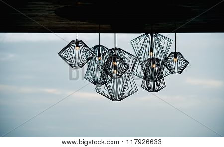 Modern Style Iron Lamp For Decorating