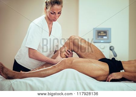 Sports Massage - Massaging Legs