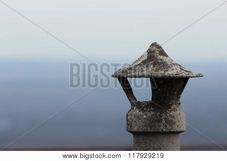 Chimney Detail, Winter Time Concept