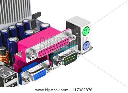 Connector Of Computer Motherboard Board