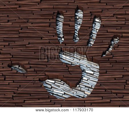 Hand Stamp In Planks