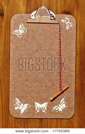 Clipboard With Butterflies