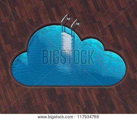 Shaped Pool Cloud