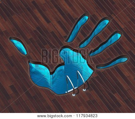 Shaped Pool Hand