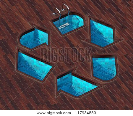 Shaped Pool Icon Recycling