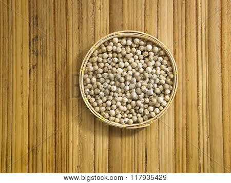 peppercorn on the bamboo background