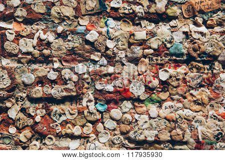 bubble gum wall in Verona, Italy