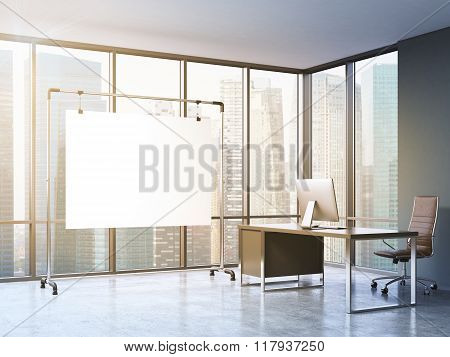 Working Place In A Modern Office