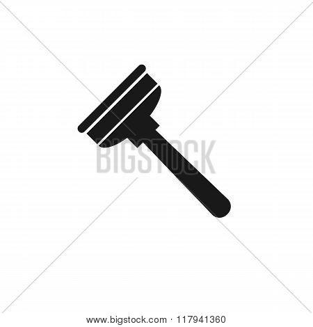 plumbing plunger black icon
