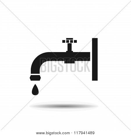 plumbing faucet and valve black icon