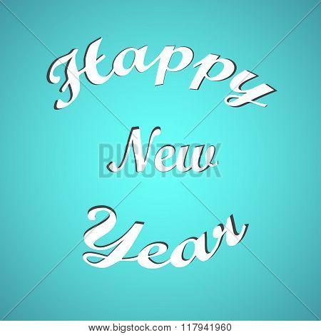 Stylish text Happy New Year