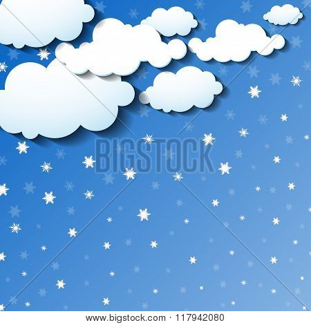 Clouds and snow