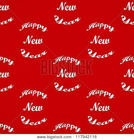 Seamless wallpaper with the inscription Happy New Year