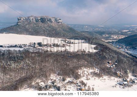 Table Mountain Pfaffenstein. Saxony