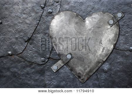 Galvanized Metal Heart