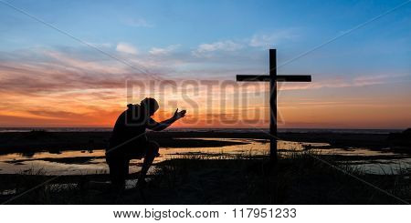 Hand Of Prayer Sunset