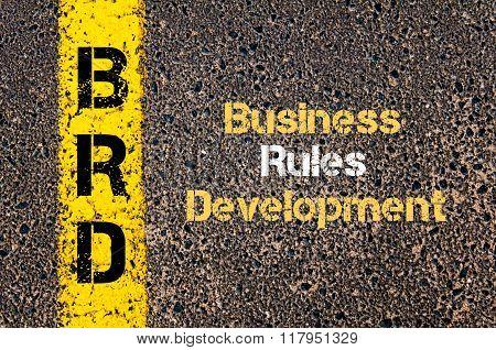 Business Acronym Brd Business Rules Development