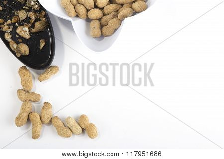 groundnut on white background