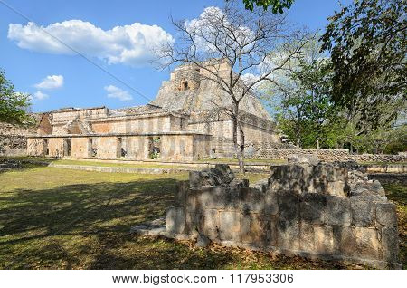 View To Ruins Of Uxmal  Pyramids