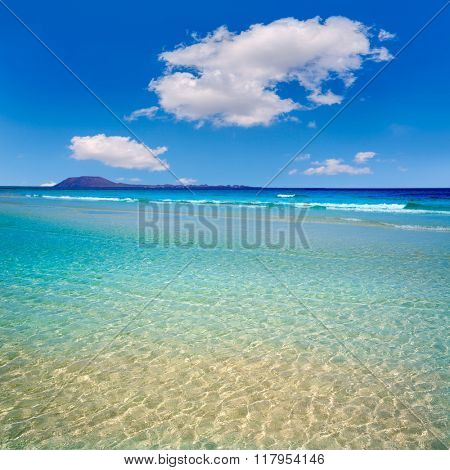 Corralejo Beach Fuerteventura at Canary Islands of Spain