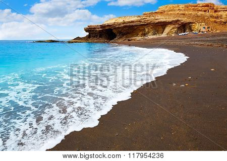 Ajuy beach Fuerteventura at Canary Islands of Spain