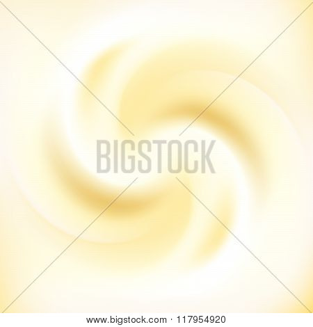 Milk Cream And Caramel Swirl Background Vector