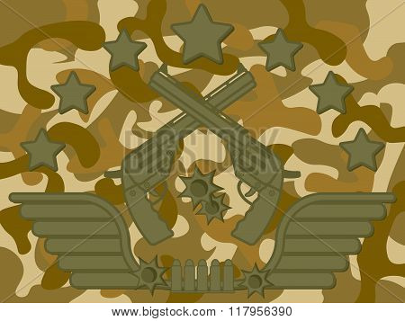 Military Logo Pistol Shooter