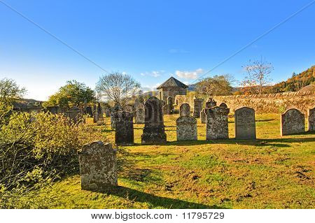 Old Cemetary In Callendar Scotland,