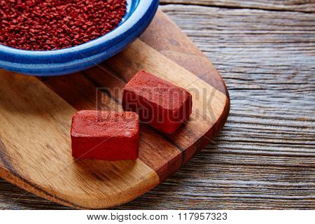 Achiote seasoning from annatto seed popular in Mexico for marinate