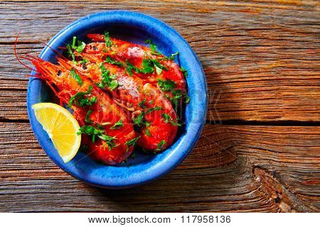 Tapas shrimps prawns seafood from Spain recipes