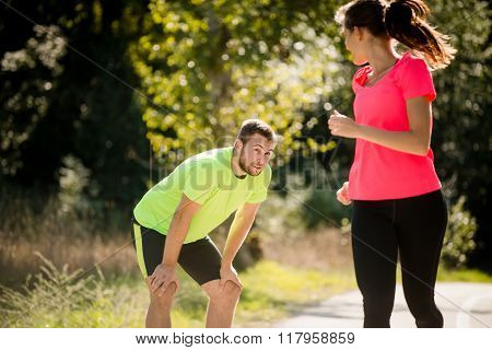 Nice to meet you - running in park