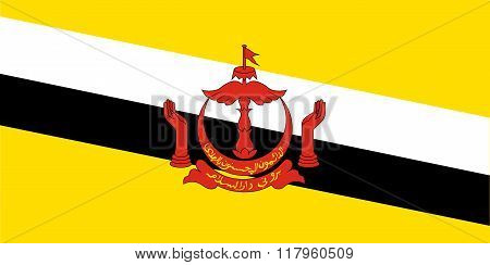 Standard Proportions For Brunei Darussalam Flag