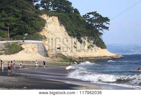 Shonan beach near Tokyo