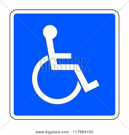 Disabled Blue Sign